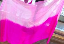 Cheap Gradient Belly Dance Veils Pink Rose Silk Scarf Shawl 250*114cm Bellydancer Performance Show Veil Purple Free Shipping(China)