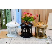 Portable Iron Star Candle Holders Home Decor Lantern Candlesticks For Home Festival Decoration T20(China)