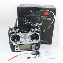 FlySky FS-T6 2.4G 6CH TX RX FS-R6B RC Radio Control Transmitter Receiver System(China)