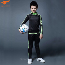 2016 2017 New Winter training football Sportswear Boys Tracksuits Children chandal futbo Sport Training Kits Soccer set kids