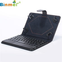 Binmer Mecall for Universal 10 inch Bluetooth Keyboard Leather Stand Case For PC Tablet