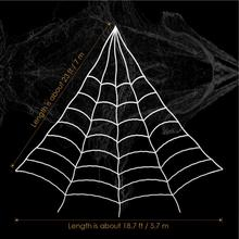 Halloween 7M Spooky Spider Web Set White Giant Spiderweb for Haunted House Decoration(China)