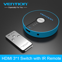 Vention 3 Port HDMI Switch Switcher HDMI Splitter 3x1 for PS3 PS4 Xbox 360 PC DV DVD HDTV 1080P HDMI 3 Input to 1 Output Adapter