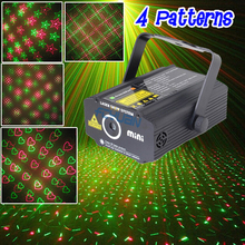 China LED Laser Light Show System 4 Kinds of Patterns Stars Love Sky Disco Wedding Party Decoration(China)