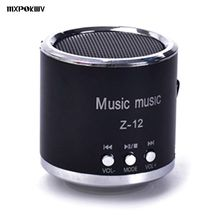 Wholesale Portable Z12 Mini Speaker TF Card Player Small MP3 Speakers With FM Radio U Drive Play For Phone Computer(China)