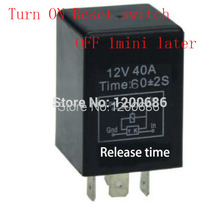 1 minutes delay off after signal reset switch on Automotive 12V Time Delay Relay SPDT 60 second delay release off relay(China)