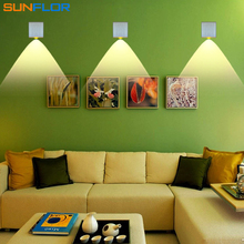 Hot Sale 3W LED Sconce Surface Mounted Indoor LED Wall Lamp Sliver Square Modern Wall Light