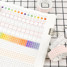 kawaii Beautiful grid washi tape DIY decoration scrapbooking planner masking tape adhesive tape label school office  supplies