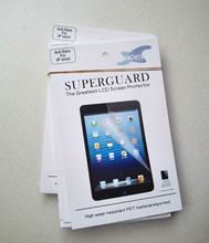 High wear-resistant pet material imported Protection Guard Film with Retail Package for iPad Mini lcd screen protector