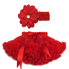 1piece Apple Red Soft Tutus For Children/Girls Daisy Infant Flower  Headband+tutu with fluffy Free Shipping