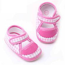 Infant Kids Girl Crib Shoes Polo Fabric Baby Booties Bootees Botinhas De Menina First Walker Toddler Moccasins Shoes 703054(China)