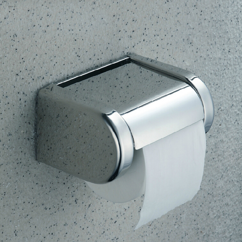 Hot Sale! Modern Square Polished Chrome NEW Chrome Stainless Steel Bathroom Toilet Paper Holder Tissue Box<br><br>Aliexpress