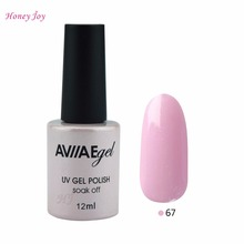 AVIIAE Shining Sparkle Pink Purple Color Gel Nail Polish Long-Lasting Soak-off LED UV Lamp Cure Cosmetic Make Up Gel Polish 12ML(China)