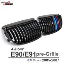 3 series e90 pre-lci single slat m-tri front kidney grille grill mesh for bmw 3 series e90 2005-2007 318i 320i