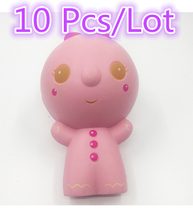 14CM Jumbo Biscuit Man Squishy Slow Rising Kawaii Cute Doll Phone Straps Colossal Kid Toy Squeeze Soft Relieve Gift Wholesales