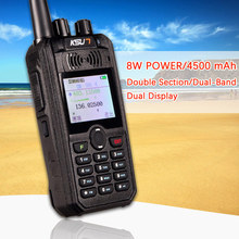 KSUN X-UV5D Walkie Talkie Portatile VHF UHF Two Way Ham Radio Transceiver dual band Palmare Walkie Talkie two Way Communicator