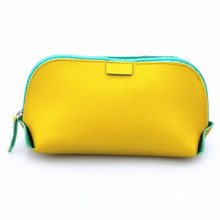 Candy color PU Leather Cosmetic Bag Women MakeUp Bag Organizer Waterproof Storage Bag Clutch(China)