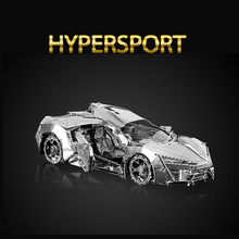 Original HK NANYUAN HYPERSPORT 3D CAR Belem Tower Puzzle Metal assembling model Oxidation resistance of stainless steel gift
