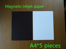 A4 size 5 pieces sample Inkjet Print Magnetic inkjet Paper Matte/Glossy surface avaiable