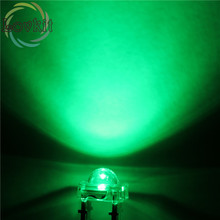 High Quality 20 pcs LED 5MM Piranha Green Super Flux Leds 4 pin Dome Wide Angle Super Bright Light Lamp For Car Light HOT SALE