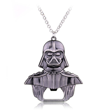 Darth Vader Model Necklace New Design Movie Star Wars Character Zinc Alloy Pendant Jewelry(China)