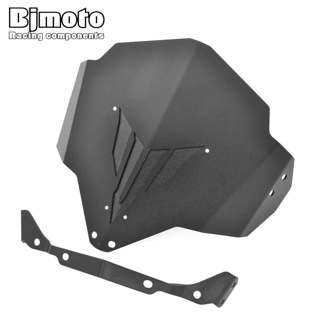 BJMOTO MT03 FZ03 CNC Aluminum Motorcycle Windshield  Motorbike Windscreen  For Yamaha MT-03 FZ-03  2015 2016 2017<br>