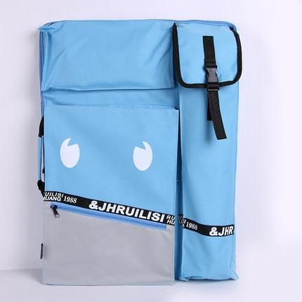 Smiley Cute Art School Bag 4K Size A2 Large Drawing Tools Art Bag Sketch Bag Waterproof Fabric Art Supplies Bag For Artists<br>