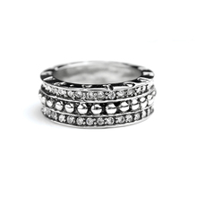 VR216 VCOOL Jewelry Women Vintage Titanium Allure Ring Retro Wedding Band Full CZ Stones Female Rings Fashion Jewellery(China)