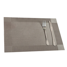 Useful 4Pcs Kitchen Table Bar Mat PVC Placemat Square Kitchen Accessories Dining Table Mat Bowl Pad Table Decor Grey