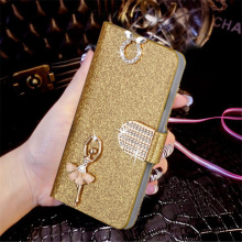 Luxury Glitter Diamond PU Leather Case For Apple Iphone 3 3G 3GS Cover Flip Original Wallet Phone Bag With Inner Back Shell