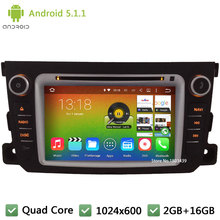 Quad core Android 5.1.1 2Din 1024*600 WIFI FM RDS USB Car DVD Player Radio Audio Stereo PC GPS For Benz Smart Fortwo 2011-2014