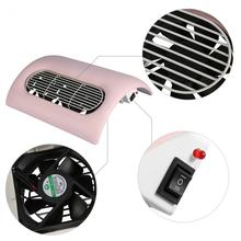Electric Nail Dust Suction Machine Nail Art Acrylic UV Gel Polish Manicure Vacuum Cleaner Collector Salon Nail Dryer Tool+3 Fans(China)