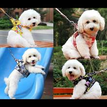 Practical Dog Harness Canvas Pet Vest Rope Dog Chest Strap Leash Set Collar Leash Harness Walking Tool