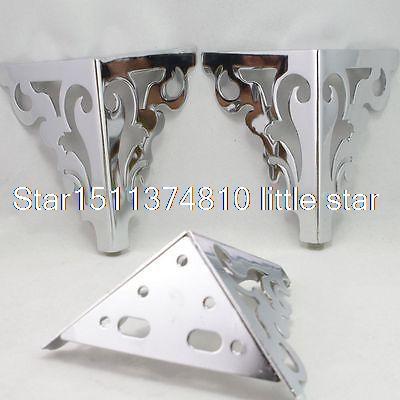 150mm Set Metal Furniture Cabinet Legs Bed Tea Table Chair  Sofa Leg Feet 4pcs<br>