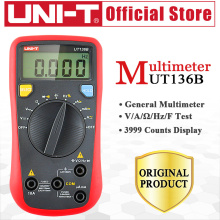 UNI-T UT136B Digital Multimeter Auto Range Tester AC DC Voltage Current Ohm Diode Cap Hz Kinds Of Measurement For Usual Tests