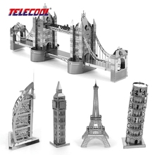 3D Puzzle Metal Earth World's Famous Building With 5 Style Miniature 3D Metal Jigsaw Puzzle Metal Model Building Toys