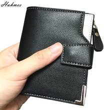 Buy High men Wallet coin holder men clutch leather zipper bag Coin Purse card holder male short wallet coin pocket for $4.74 in AliExpress store