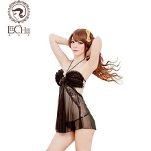 Buy leechee Q234 latex lingerie sexy hot erotic porn hang-neck sexo temptation hollow teddy sexy sexy underwear sexy shop porn