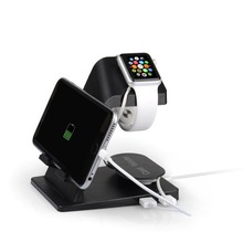 Watch Stand, Itian A16 Dual Stand Charging Station Desk Dock/Station/Cradle for Apple Watch and iPhone 8 iPhone 8 plus iPhone x(China)