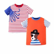 2 Pack T-Shirt Boys Tops 2018 Summer Camiseta 100% Cotton Children Clothing Roupas Infantis Menina Kids Clothes for Boys Shirts(China)