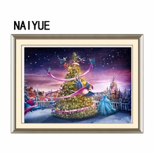 Christmas Tree cross-stitch Embroidery Paintings Diamond embroidery Painting Diamonds mosaic for Wall Decoration Good gift Hot(China)