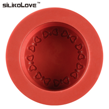 SILIKONOVE Moon Cake Mold Silicone Mini Pastry Dessert Non-stick Heart Ripple Round For Party Tools DIY Mold Tray Bakeware(China)