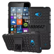 Tire Style Tough Rugged Dual Layer Hybrid Hard KickStand Duty Armor Case for Microsoft Nokia Lumia 640 N640 Kick Stand Phone Bag