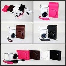 4 Colors Black/White/Brown/Pink Camera Case Bag Leather Case Cover for Digital Camera Samsung GC100 Free Shipping(China)