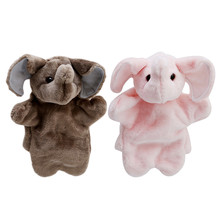 Baby Kids Elephant Hand Puppet Child Soft Hand Puppet Doll Plush Hand Puppets Toys Soft Plush Stuffed Interactive Toy JK974541