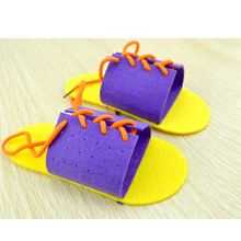 Kindergarten DIY Toy Children Woven Handmade Slippers Gifts Teaching Aids Hands On Training Self Care Ability(China)