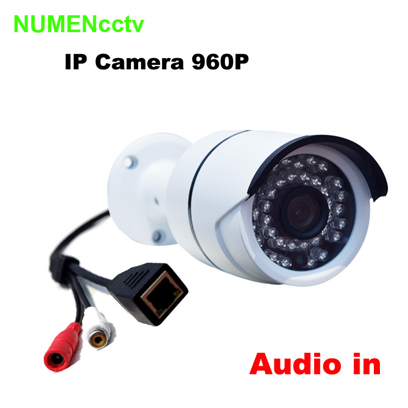 Hot 1.3MP Audio input 960P IP Camera Onvif Outdoor Security Waterproof Night Vision CCTV security IP camera surveillance system<br><br>Aliexpress