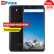 "Original vernee X 4GB 64GB Smartphone 18:9 superbattery Cell Phones Twincamera Android Helio P23 5.99"" Face ID 6200mAh Phone(China)"