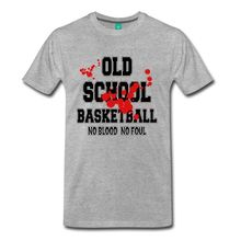 Basketballer No Blood No Foul Old School Men's T-Shirt Round Collar Short Sleeve T Shirt Top Tee for Sale Natural Cotton Tees