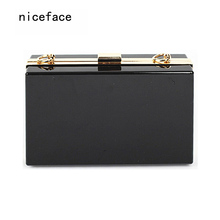 Woman bags new fashion brand 2017 evening bag solid wallet hard stylish acrylic hasp women handbag vintage lady cute clutch Hot(China)